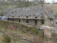 New front walls rising up